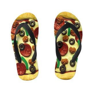 Chanclas Para Niños Fiesta de cumpleaños de la pizza de los niños