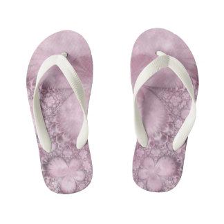 Chanclas Para Niños Flip-flop rosado del fractal del modelo de