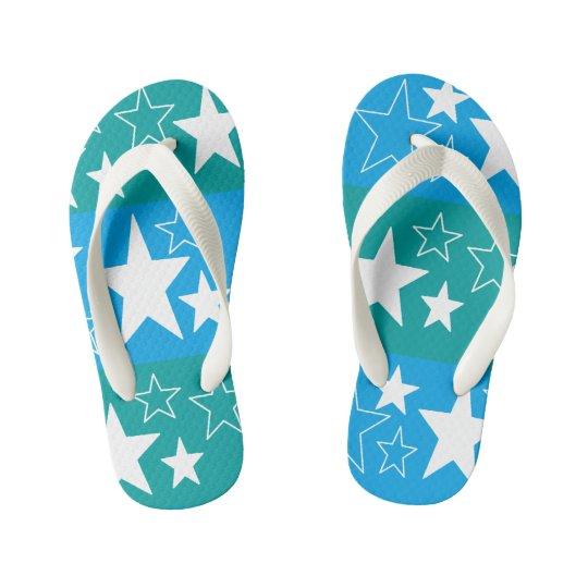 Chanclas Para Niños 'flips-flopes azules del verde de n… para los