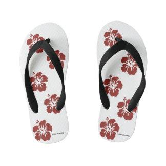 Chanclas Para Niños Flips-flopes de la flor del hibisco de los niños