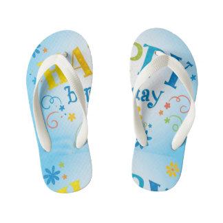 Chanclas Para Niños Flips-flopes felices del modelo del B-Día de los