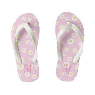 Chanclas Para Niños Flips-flopes florales rosados bonitos del chica