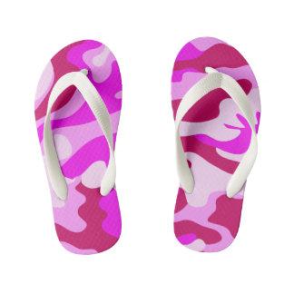 Chanclas Para Niños Flips-flopes rosados de Camo
