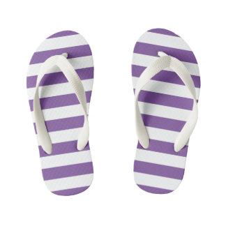 Chanclas Para Niños Rayas púrpuras horizontales