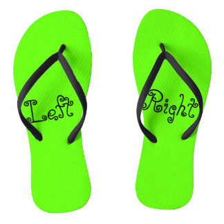 Chanclas Pie derecho del pie izquierdo