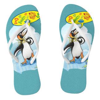Chanclas Pingüino de rey desesperado que dice malas