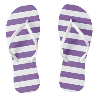 Chanclas Rayas púrpuras horizontales