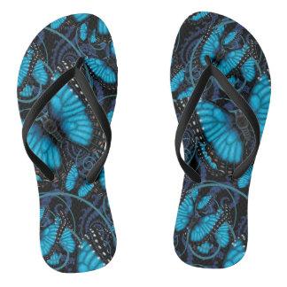 Chanclas Remolinos azules de la mariposa de Morpho