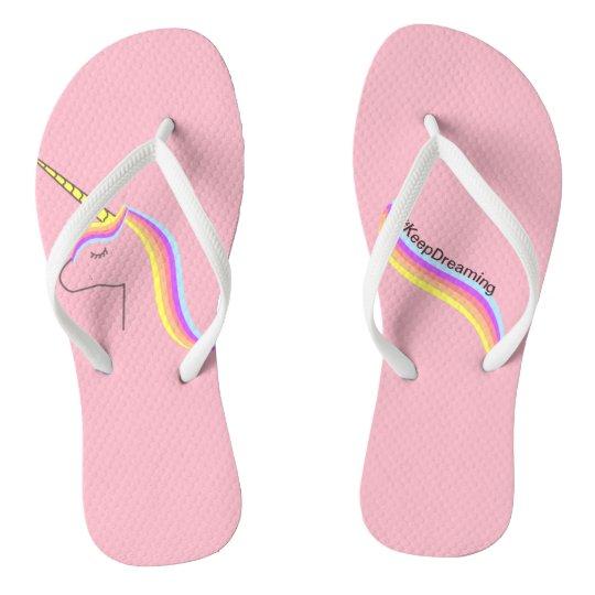 Chanclas Sandalias flips flops unicorn