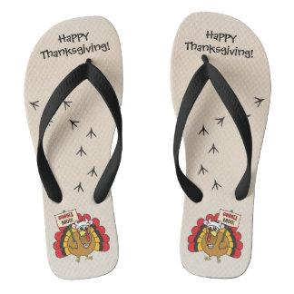Chanclas Turquía tonta para la acción de gracias