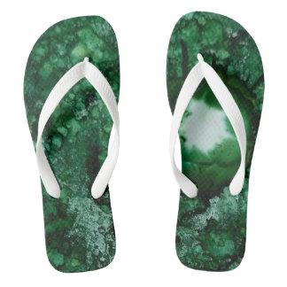 Chanclas Verde del flip-flop