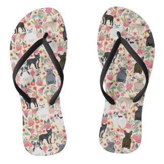 Chanclas Zapatos florales de Frenchie - zapatillas de