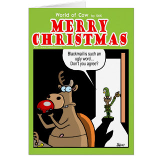 Chantaje en el navidad tarjeta