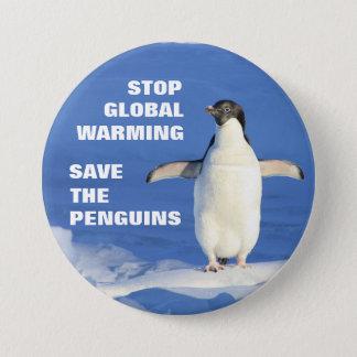 Chapa Ahorre el calentamiento del planeta de la parada