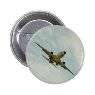 Chapa con avion vintage pin redondo 5 cm