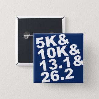 Chapa Cuadrada 5K&10K&13.1&26.2 (blanco)
