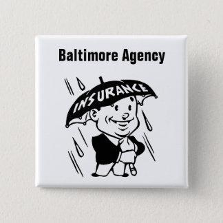Chapa Cuadrada Agente o agencia de seguro del personalizar