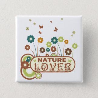 Chapa Cuadrada Amante de naturaleza floral