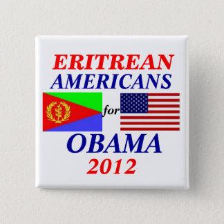Chapa Cuadrada Americanos del Eritrean para Obama