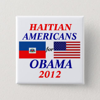 Chapa Cuadrada Americanos haitianos para Obama