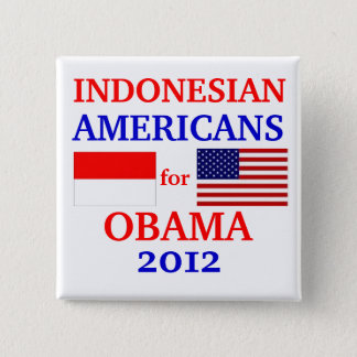 Chapa Cuadrada Americanos indonesios para Obama