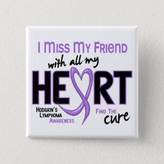 Chapa Cuadrada Amigo de Srta. With All My Heart del linfoma de
