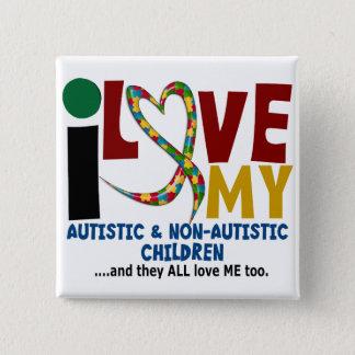 Chapa Cuadrada Amo mi AUTISMO autístico y de NonAutistic de los