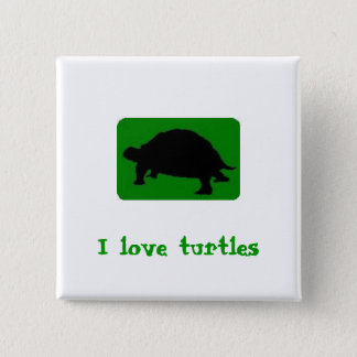 Chapa Cuadrada Amo tortugas