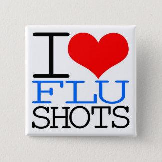 Chapa Cuadrada Amo vacunas contra la gripe