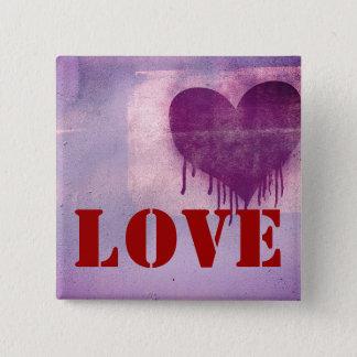Chapa Cuadrada Amor del corazón del arte de la calle