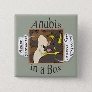 Chapa Cuadrada Anubis en una caja (ojos cerrados)