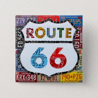 Chapa Cuadrada Arte de la placa de la ruta 66 por la carretera de