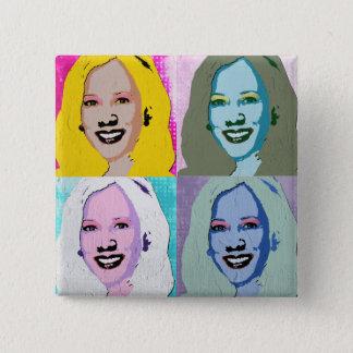Chapa Cuadrada Arte pop de Kamala Harris