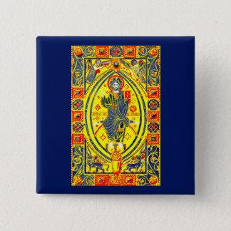 Chapa Cuadrada Arte popular bizantino Jesús