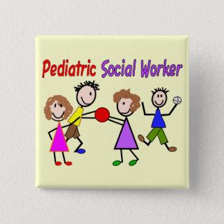 Chapa Cuadrada Asistente social pediátrico