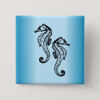 Chapa Cuadrada Azul del Seahorse
