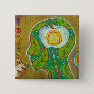 Chapa Cuadrada Badge vegan head chakras