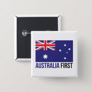 Chapa Cuadrada Bandera australiana MAGA del primer australiano de