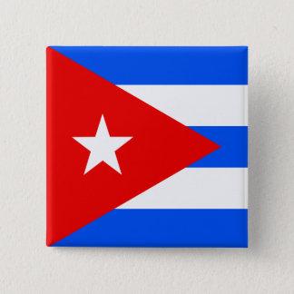 Chapa Cuadrada Bandera de alta calidad de Cuba