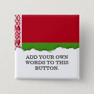Chapa Cuadrada Bandera de Bielorrusia