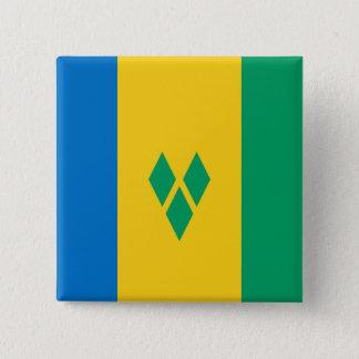 Chapa Cuadrada Bandera de San Vicente y las Granadinas