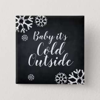 Chapa Cuadrada Bebé su copo de nieve de encargo exterior frío