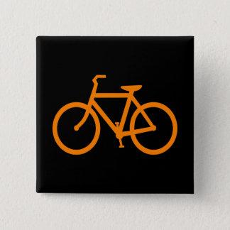 Chapa Cuadrada Bici anaranjada