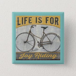 Chapa Cuadrada Bici del vintage con cita