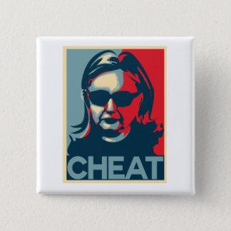Chapa Cuadrada Botón/insignia de Anti-Hillary Clinton del