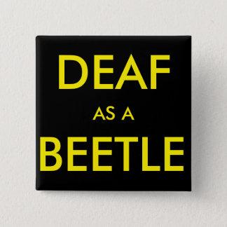 "Chapa Cuadrada Botón/perno negros cuadrados, ""sordo como"