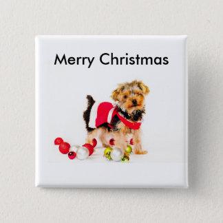 Chapa Cuadrada Botones de las Felices Navidad de York