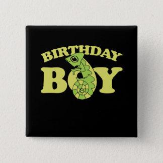 Chapa Cuadrada camaleón del lagarto del muchacho del cumpleaños