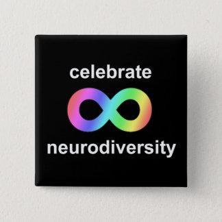 Chapa Cuadrada Celebre el neurodiversity