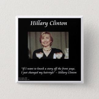 Chapa Cuadrada Cita de los peinados y de los títulos de Hilary